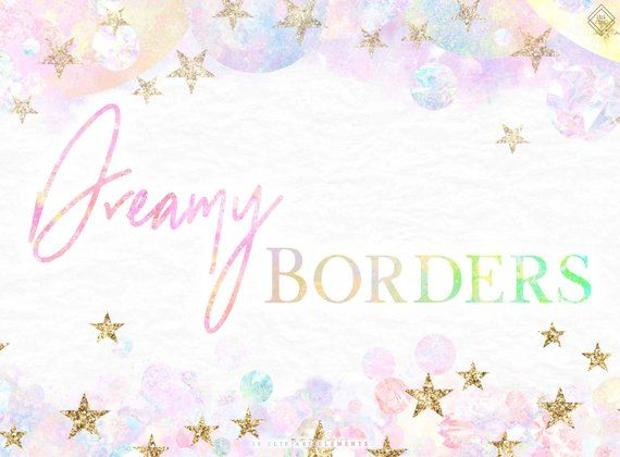 Rainbow Clipart Borders Pastel Unicorn Clipart Sky