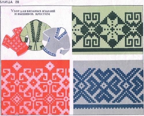 Узор для вязанных изделий и вышивок крестом