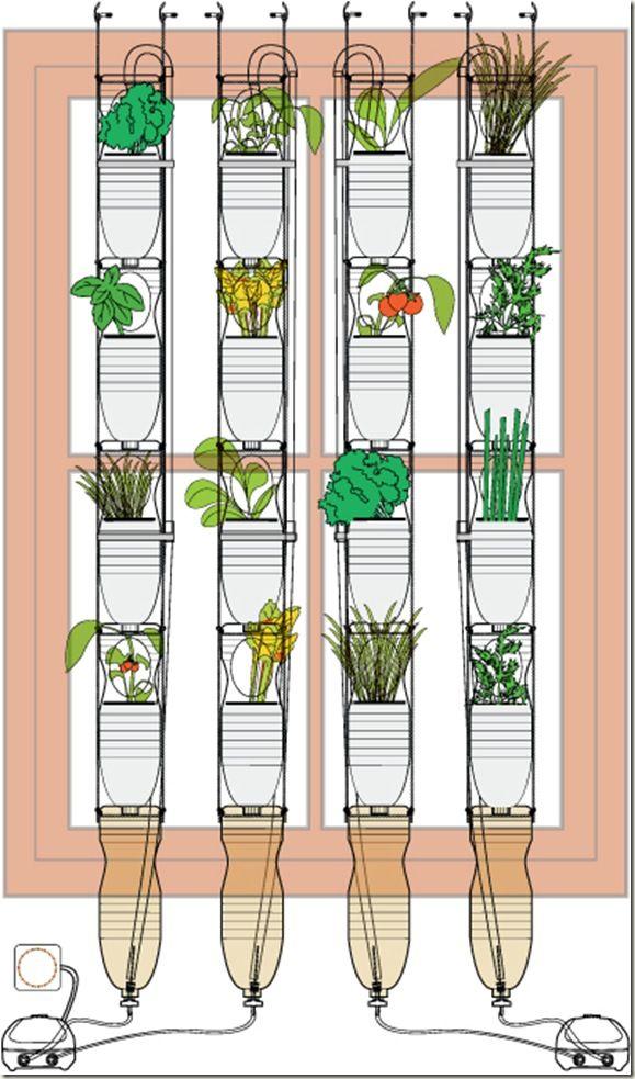 Mejores 9 im genes de huertos urbanos en pinterest - Huerto vertical casero ...