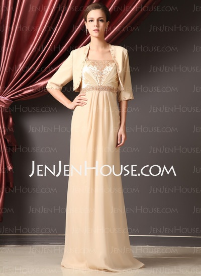 Mother of the Bride Dresses - $148.99 - A-Line/Princess Strapless Floor-Length Chiffon Charmeuse Mother of the Bride Dresses With Ruffle Beading (008014248) http://jenjenhouse.com/A-line-Princess-Strapless-Floor-length-Chiffon-Charmeuse-Mother-Of-The-Bride-Dresses-With-Ruffle-Beading-008014248-g14248