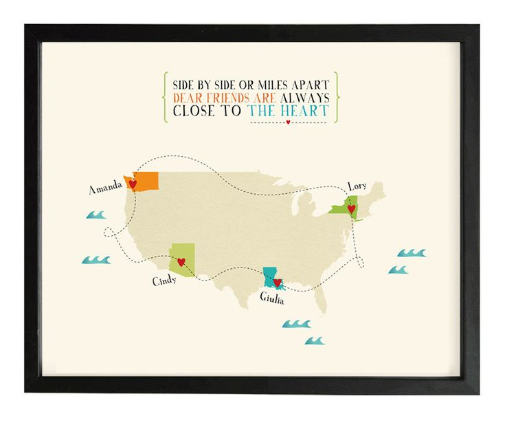 Long distance friendship map