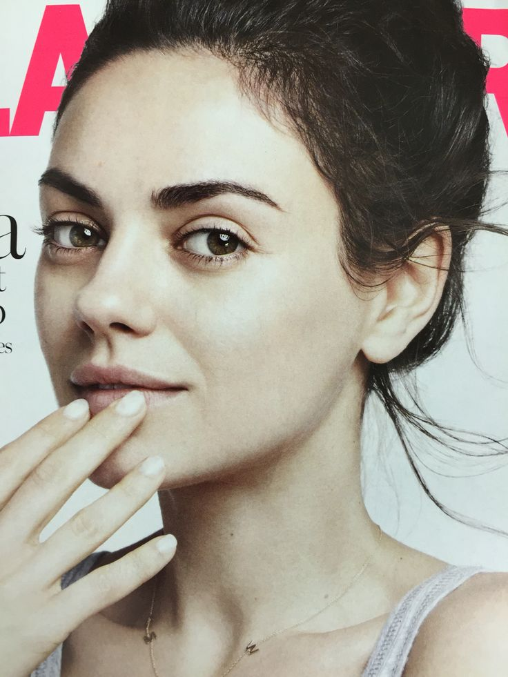 Pure beauty...Mila Kunis without makeup!