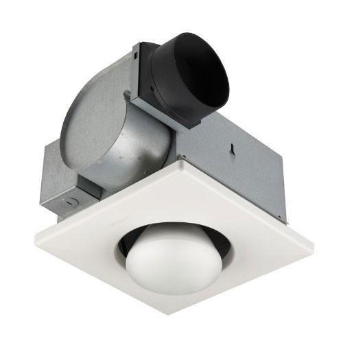 Fancy Broan Quiet Bathroom Ventilation Fan with W Infrared Bulb Heater Light