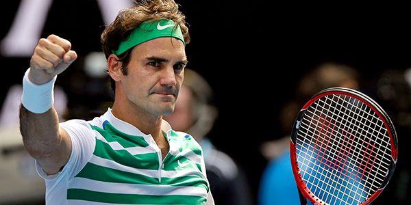 Erkekler ilk yarı finalist Federer!