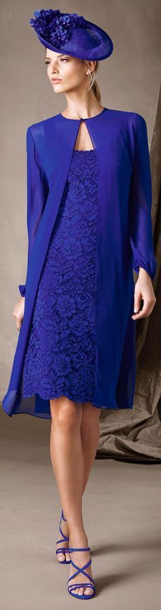Pronovias 2017 blue   women fashion outfit clothing style apparel @roressclothes closet ideas