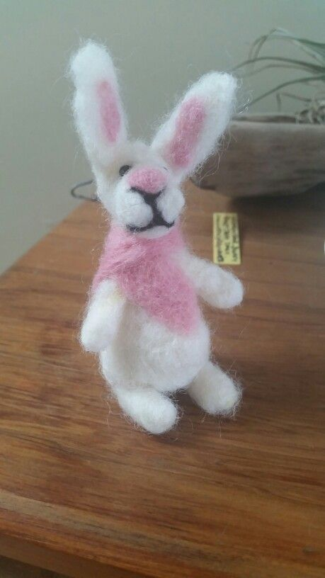 A widdle wabbit...this was my first attempt at needle felting.