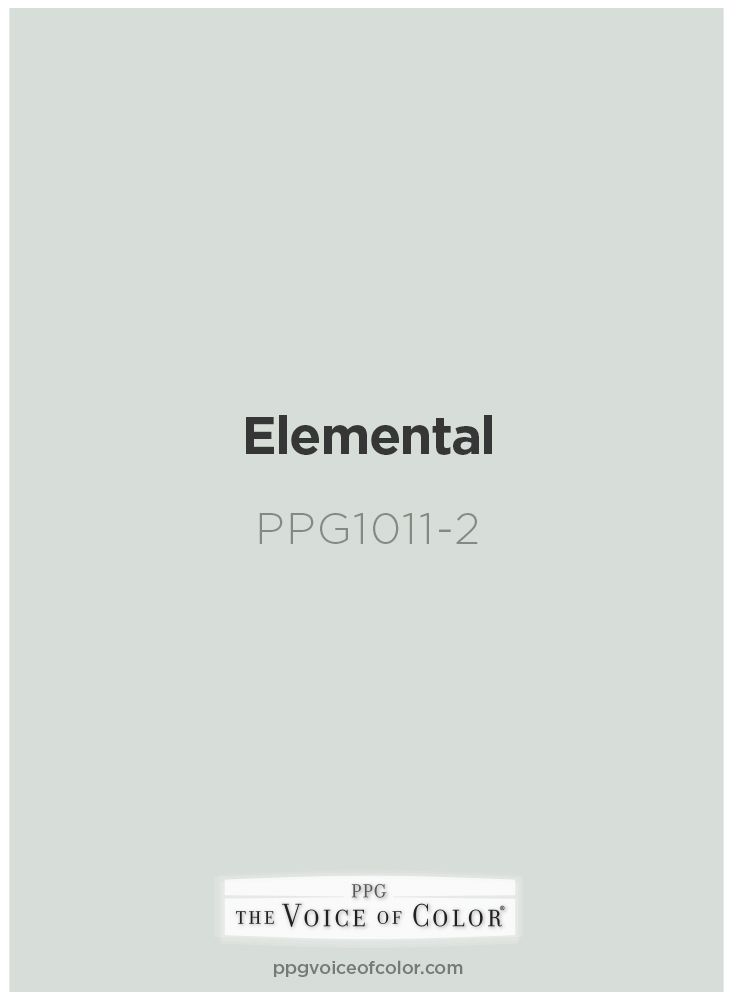 Grey blue paint color Elemental by PPG Voice of Color®. Browse this paint color…
