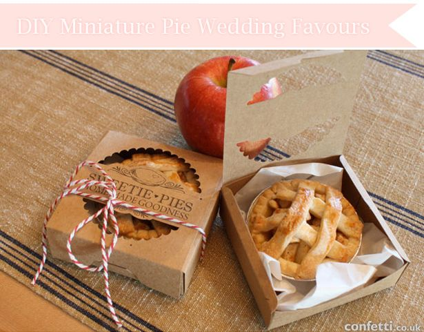 DIY miniature pie wedding favours | Confetti.co.uk