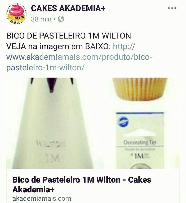 BICO DE PASTELEIRO 1M WILTON VEJA na imagem em BAIXO: http://www.akademiamais.com/produto/bico-pasteleiro-1m-wilton/