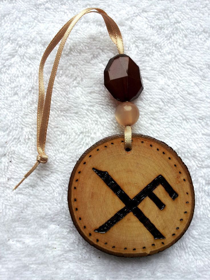 luck bind rune wall hanging charm witch wicca pagan