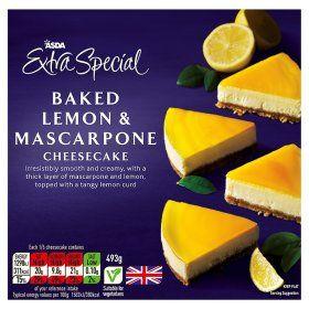 10 best foods to try asda images on pinterest asda extra special baked lemon mascarpone cheesecake solutioingenieria Choice Image