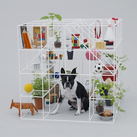 Architecture for Dogs curated by Kenya Hara / french bull dog