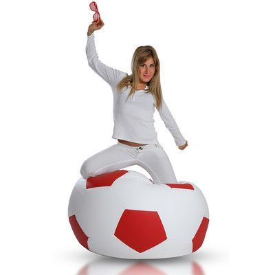 Bean Bag Chair Upholstery: White / Red - http://delanico.com/bean-bag-chairs/bean-bag-chair-upholstery-white-red-590694150/