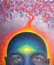 Ajna chakra - with focus on alternate nostril breathing (nadi shodhana), meditation, balasana and drishti.