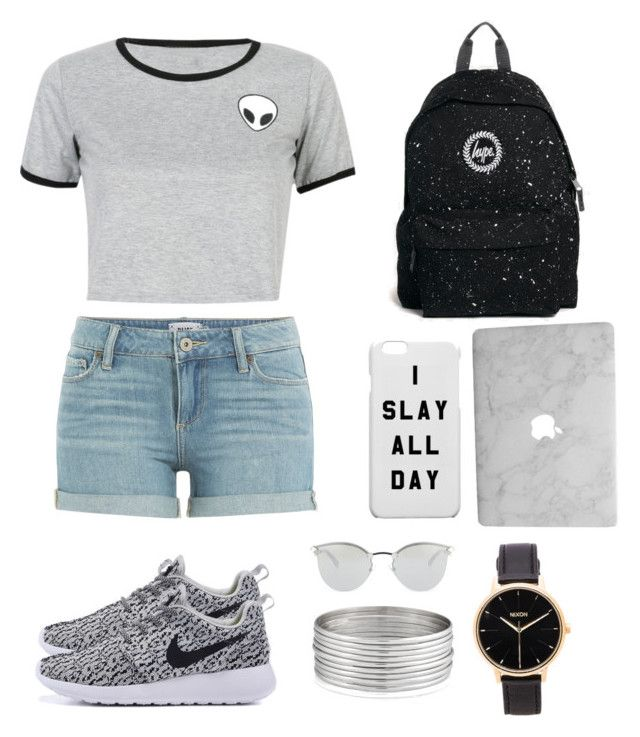 """im feeling gray"" by iinwahyuj on Polyvore featuring Paige Denim, WithChic, Hype, Fendi, Nixon and West Coast Jewelry"