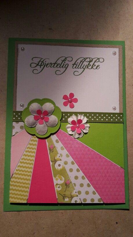 Fødselsdag. Pink. Grøn.  Blomster.