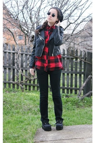 Choies-shoes-new-yorker-hat-zara-jacket-second-hand-glasses --- Chictopia