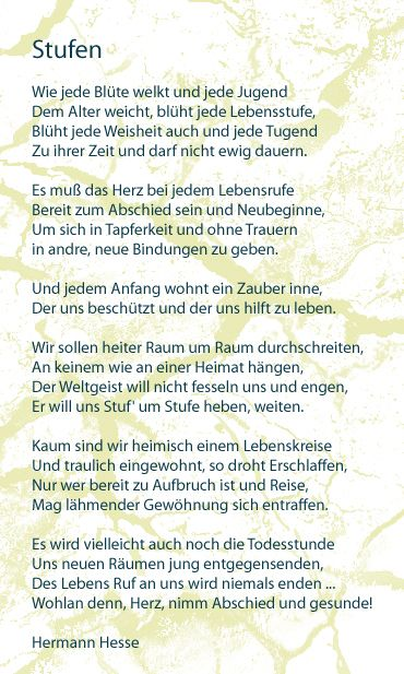 this will forever be my favourite poem stufen by h hesse. Black Bedroom Furniture Sets. Home Design Ideas