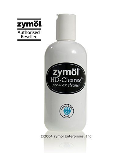 Zymöl HD-Cleanse - 8.5 oz  Naturally Derived Product that is 100% Satisfaction Guaranteed !  Created with a thick mixture of Cocoa Butter Oil, Apricot and Almond meal.  Pure Coconut, Cocoa Pod, Apricot Kernel, Lemon Seed and Montan Oils.  Be sure to Wax or Glaze your surface when you have completed the HD-Cleanse process.  You must use HD-Cleanse if you want your Zymöl Wax or Glaze to bond. Technical support: zymoltech@zymol.com