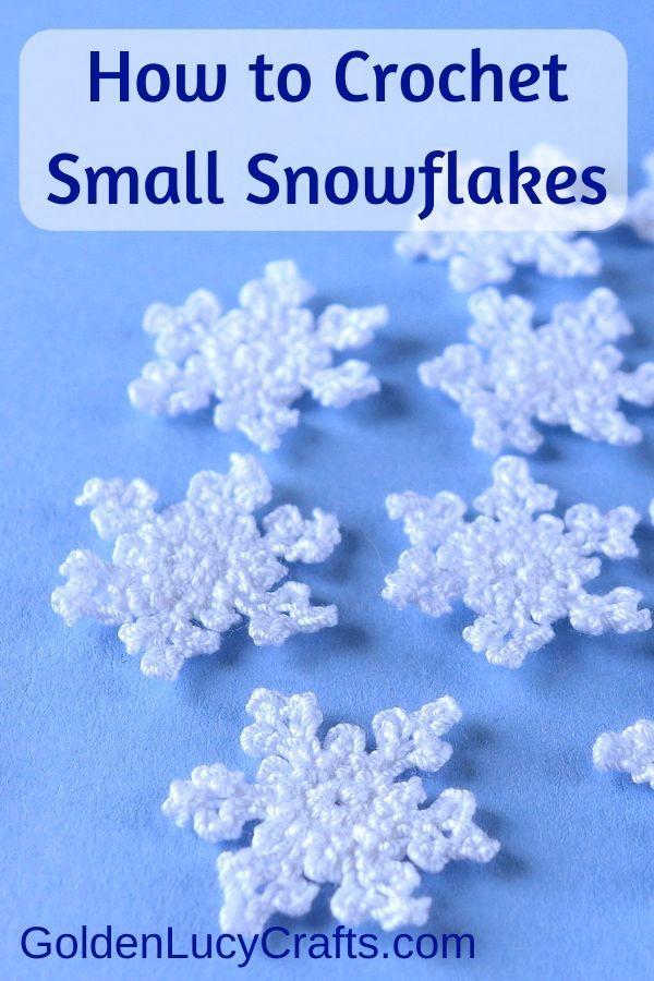 Small Crochet Snowflake Free Crochet Pattern Goldenlucycrafts Crochet Christmas Snowflakes Free Crochet Snowflake Patterns Crochet Snowflake Pattern