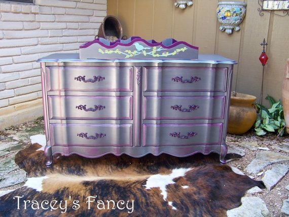 French Provincial Dresser and Changing Table - , via Etsy.