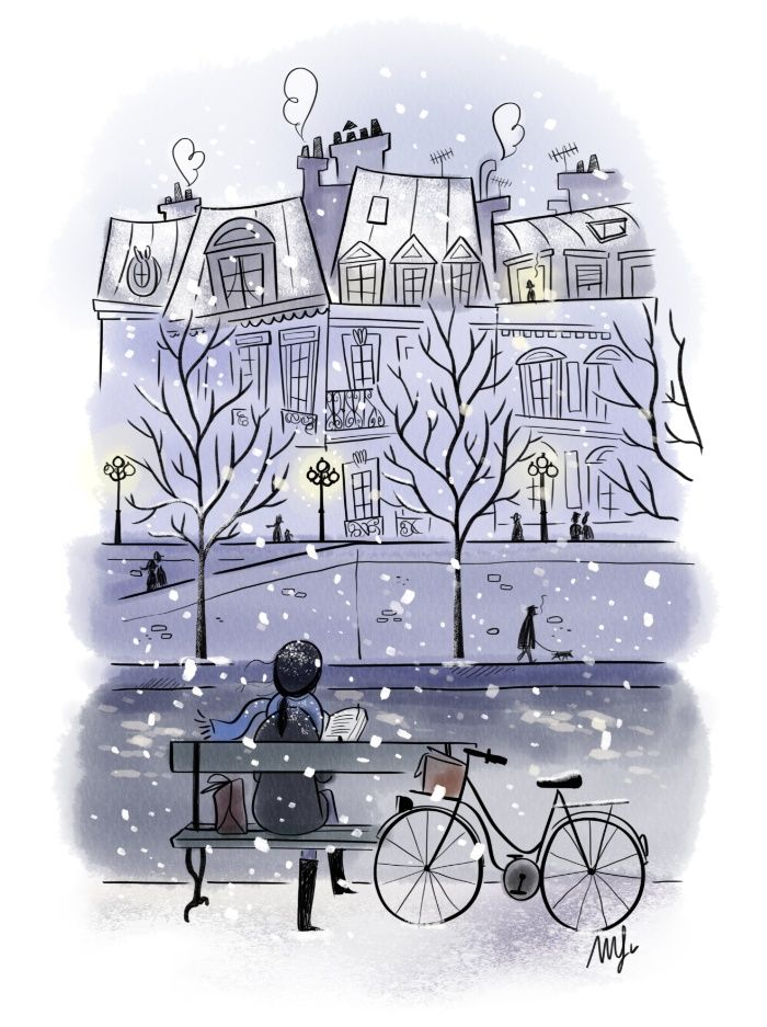Winter in Paris ❅ Canvas Print by Magalie Foutrier | Society6