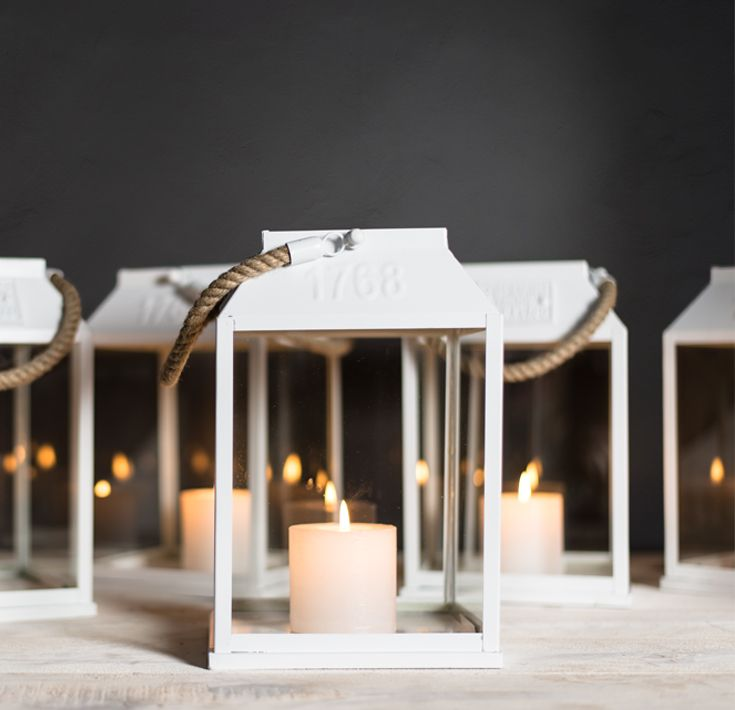 Add the finishing touch to your Spring evenings with our White Candle Lantern Holders. #candlelit #loveit #evenings