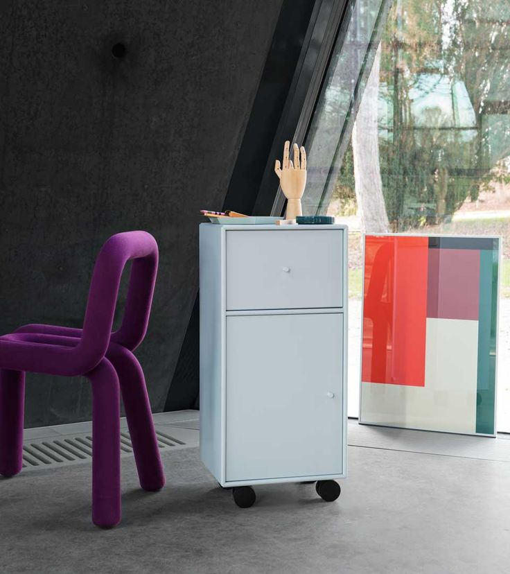MOVE - archive cabinet on castors from Montana Collection in the colour Peppermint