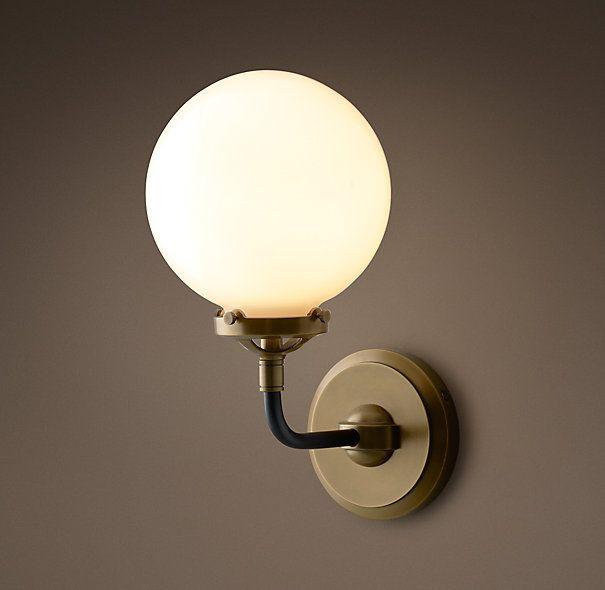 Bistro Globe Milk Glass Single Sconce  home design