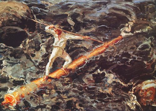 Akseli Gallen-Kallela - The Log Floater, 1923.