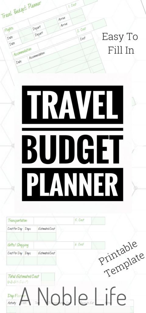 Travel Budget Template | Travel Advice & Tips | Budgeting