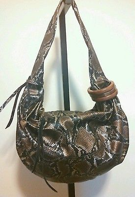 Rhythm & Rhyme Faux Python Print Hobo By Colleen Langston Retail $220