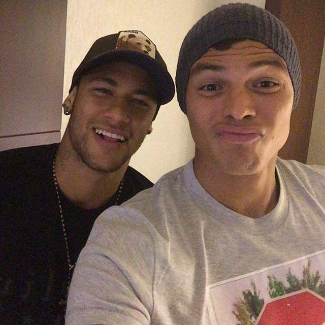 "missdasilvasantos: ""Neymar & Thiago Silva """