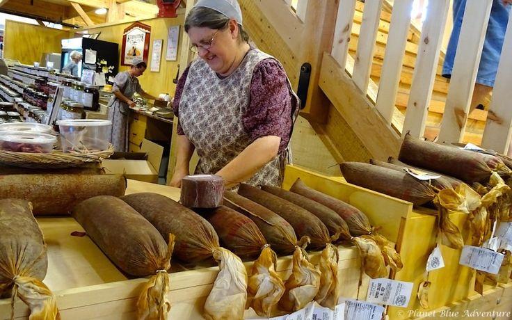 St Jacobs Market Sausage seller