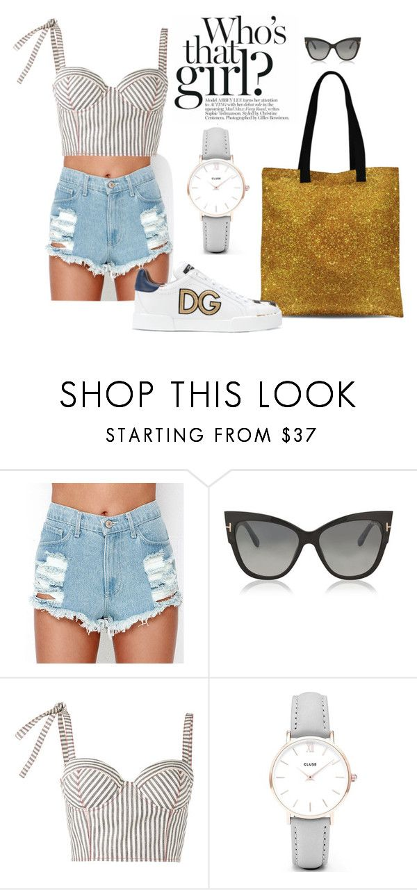 """""""Summer Casual Friday"""" by abstra ❤ liked on Polyvore featuring Tom Ford, Rosie Assoulin, CLUSE and Dolce&Gabbana"""