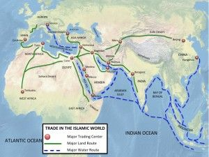 Map of Islamic Trade Routes