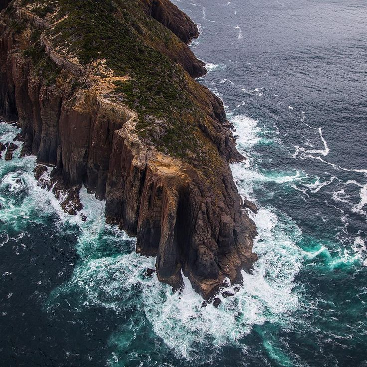 The coastline around the South West of Tasmania is always stunning to look at from the air. Image posted by instagram user trex.photography  #wilderness #aerials #DiscoverTasmania
