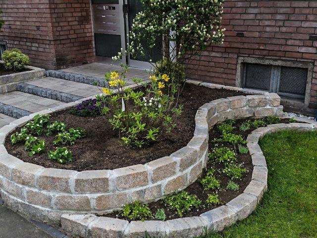 Vorgarten Neugestaltung / Vorgarten Neuanlage / Palisaden / Diephaus Mauerstein / Vorgartengestalten leicht gemacht / My-GardenTime