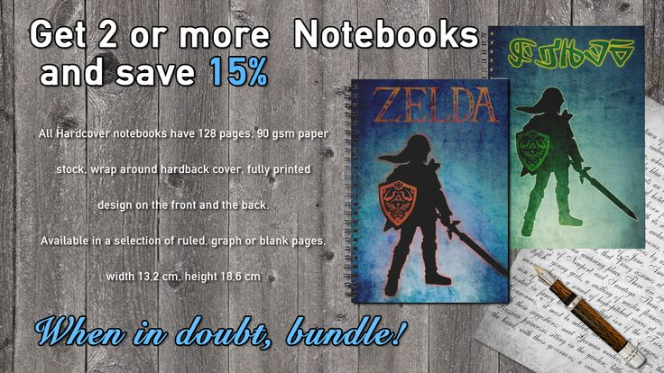 Get 2 or more Mugs or Notebooks and save 15%! Zelda Notebooks Bundle #redbubble #notebooks #discount #sales #save #buynotebook #zelda #zeldanotebooks #coolnotebook #giftsforhim #giftsforboys #girlygifts #zeldagifts  #school #schoolnotebooks #buyschoolnotebooks