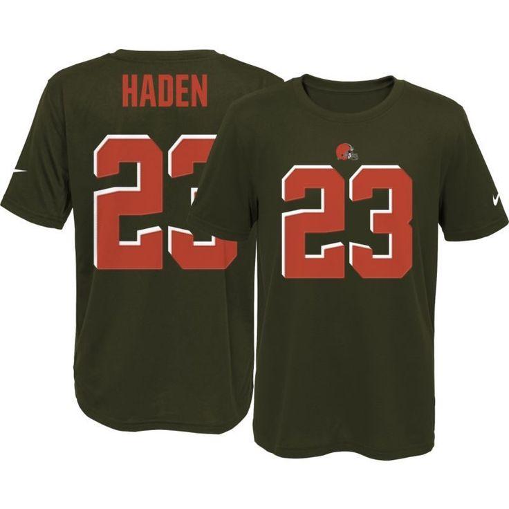Nike Youth Cleveland Joe Haden #23 Brown T-Shirt, Kids Unisex, Size: Medium, Team