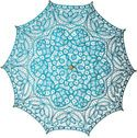 Need this for photoshoots - Turquoise Blue Cotton Lace Parasol