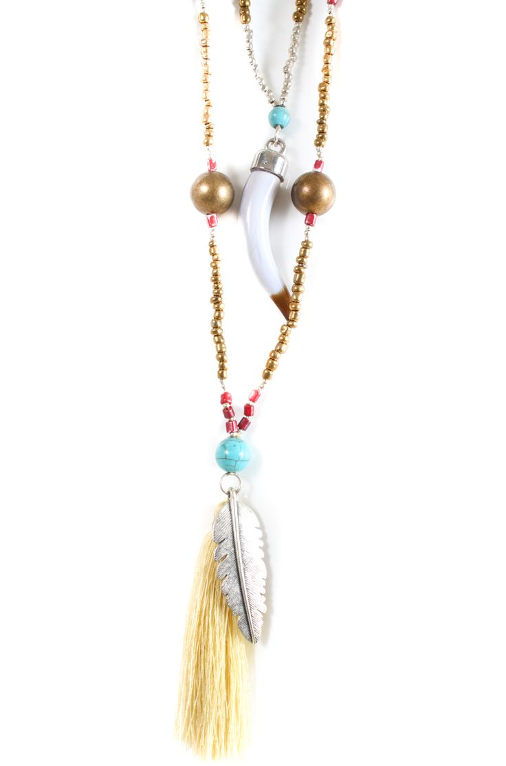 Ruby Yaya Doulble chain with Tassel gold