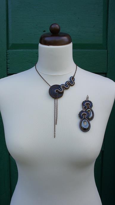 modern soutache necklace