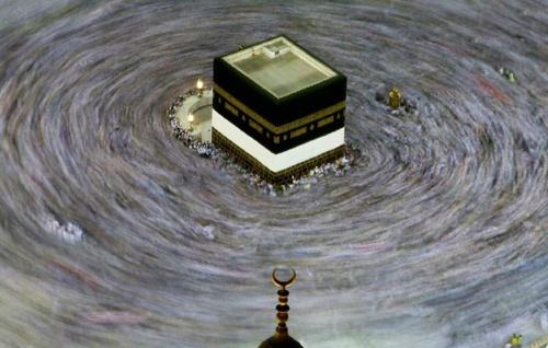 7 time circumbulation around the kaaba to raise each chakra.