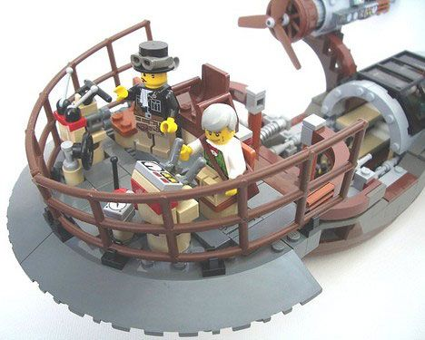 It may seem an incongruous combination but legions of LEGO-maniacs have employed the versatile bricks to create stunning scenes of plasticized steampunk glory.