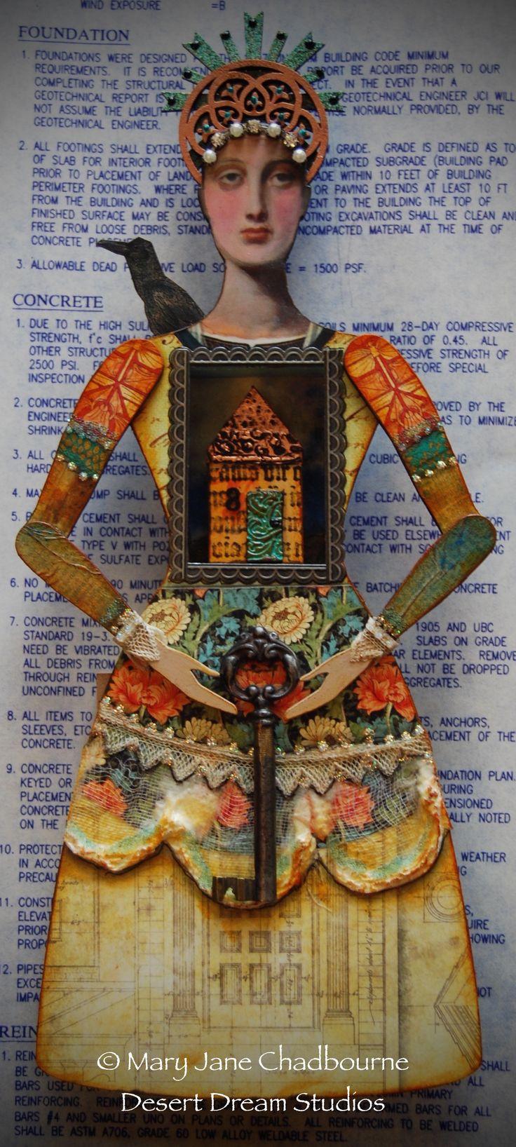 "Santos Shrine, ""Hermoine, Protector of the Home"" by MJ Chadbourne/Desert Dream Studios"