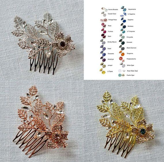 Choose Your Accent Colour  Vintage Inspired Crystal Flower