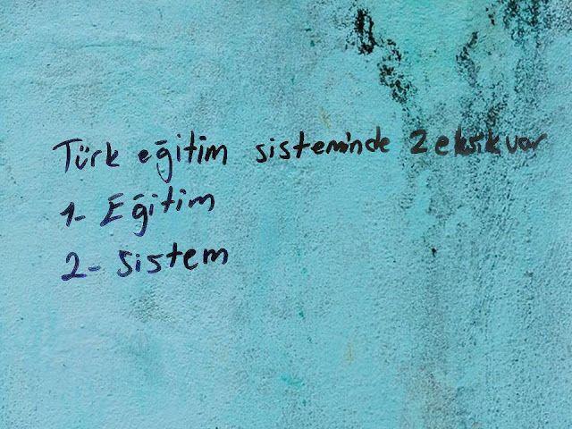 Türk eğitim sisteminde 2 eksik var 1 eğitim 2 sistem hergarenk