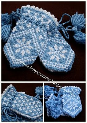 Traditional child mitten, too cute!