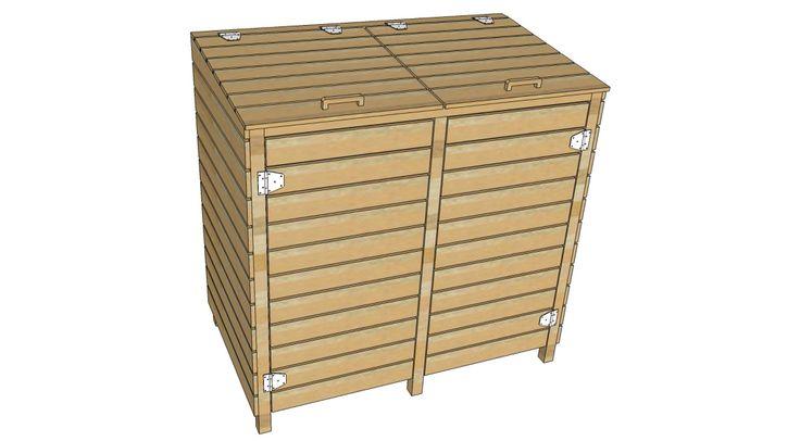 Kliko ombouw voor 2 kliko's gemaakt van pallethout